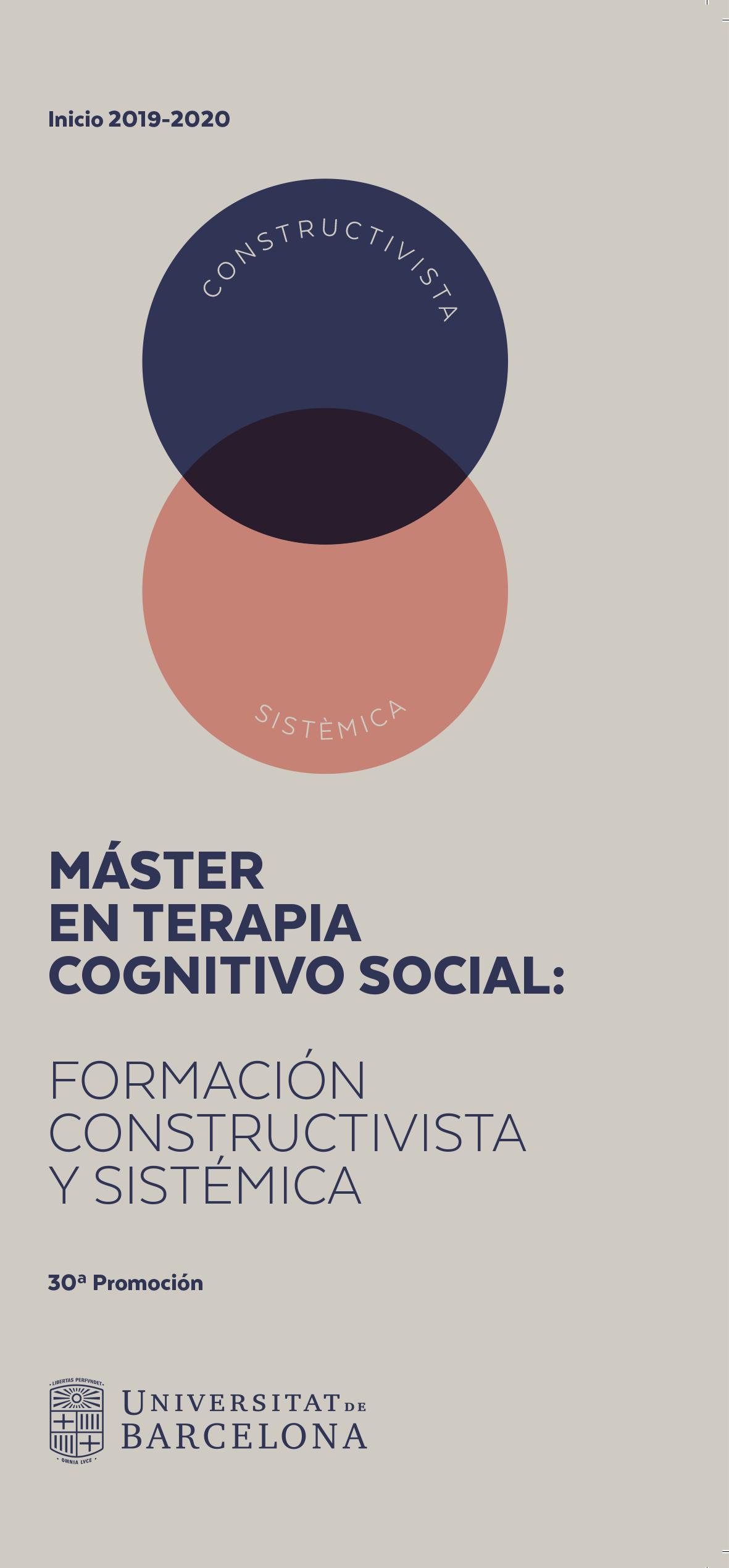 Máster en Terapia Cognitivo Social